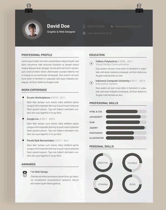 Pin by Shelby Cotham on Job Hunting Pinterest Infographic - cool resume templates free