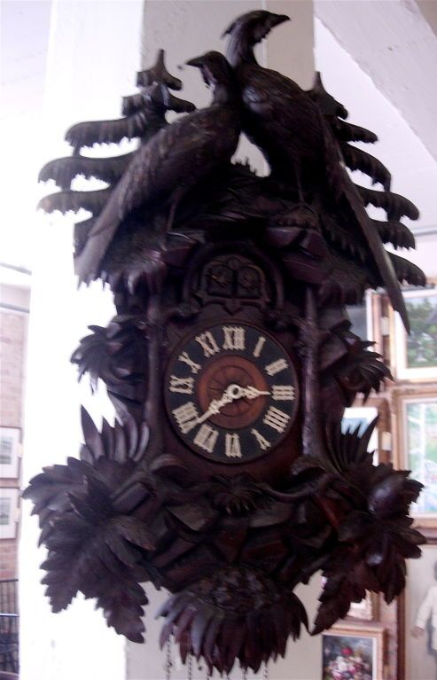 Exceptional 19th Century Black Forest Cuckoo Clock. image 5