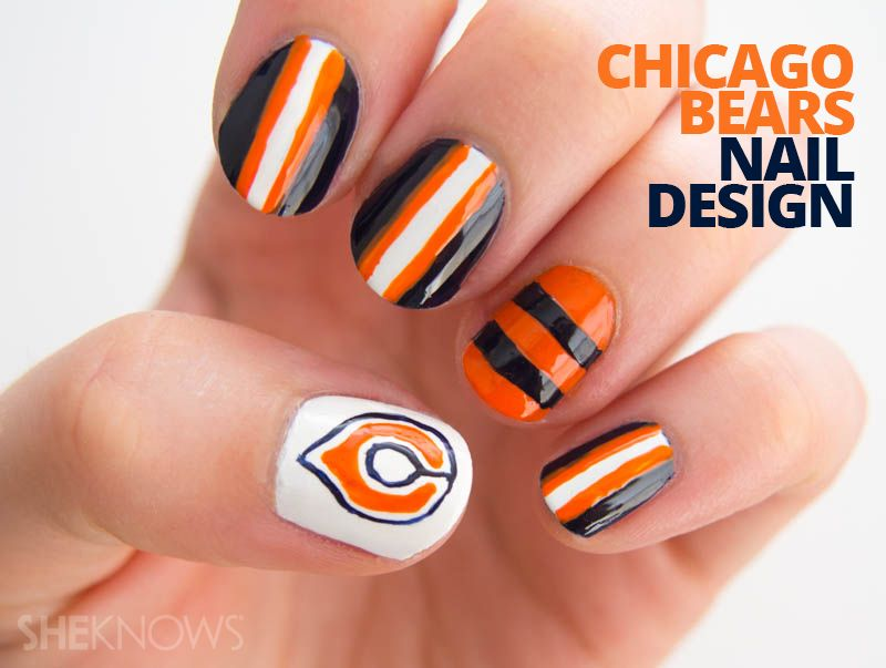 Color your nails with team spirit | Design tutorials, Chicago bears ...
