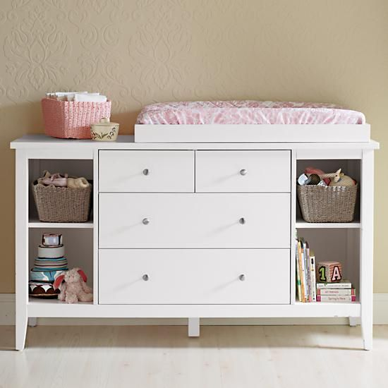 Baby Changers Clic White Wooden Changing Top In The Land Of Nod