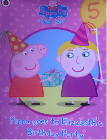 Personalised peppa pig penwizard book
