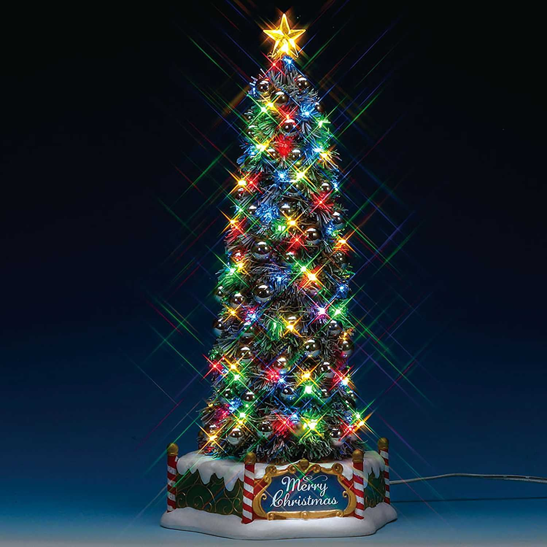 Lemax Majestic Christmas Tree Tabletop Decoration Multicolored 1 Pk Xmas Tree Lights Traditional Christmas Decorations Xmas Tree