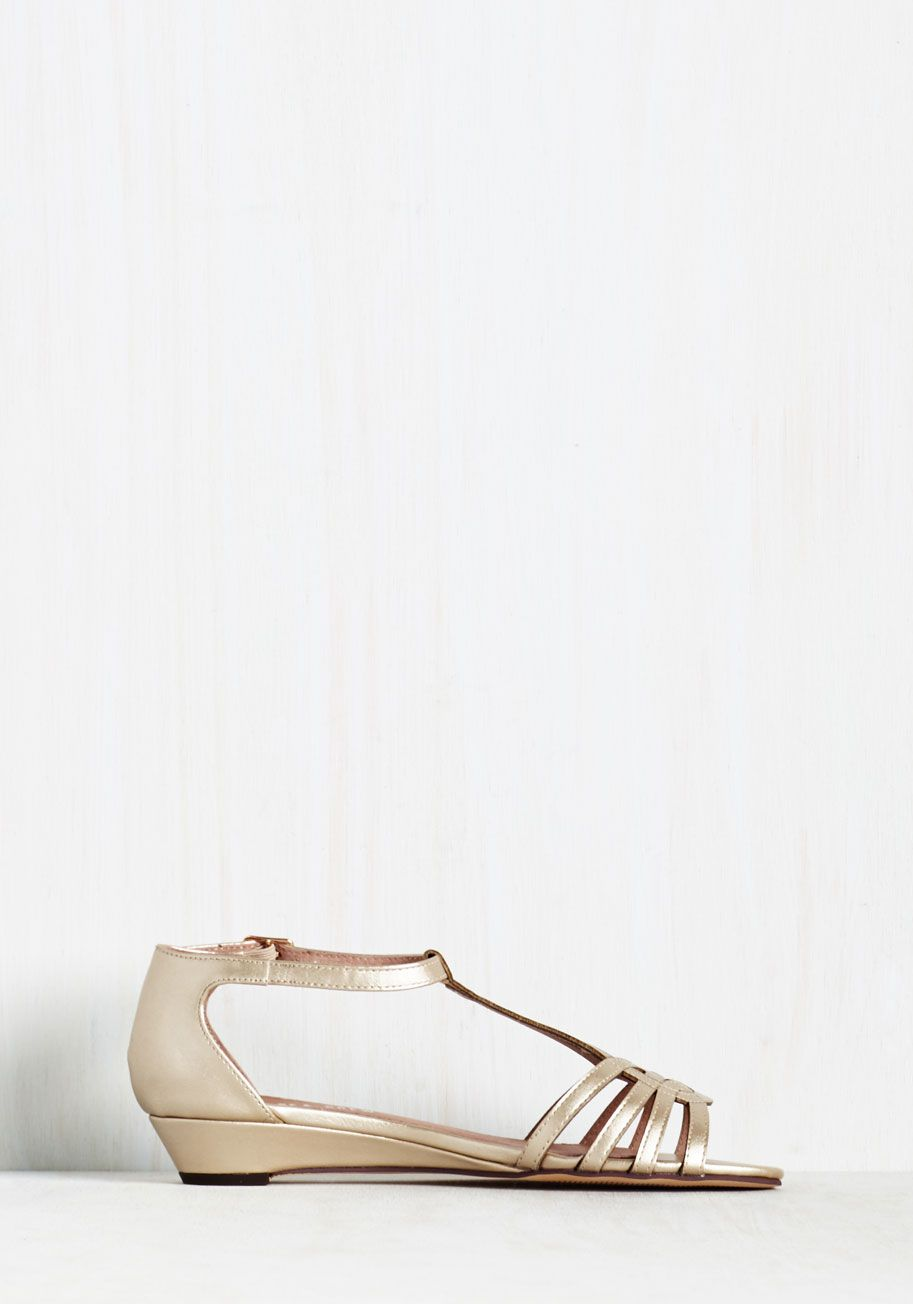 76bffc968af535 Wanna Prance with Somebody Sandal in Gold. Feel the heat as you skip down  the