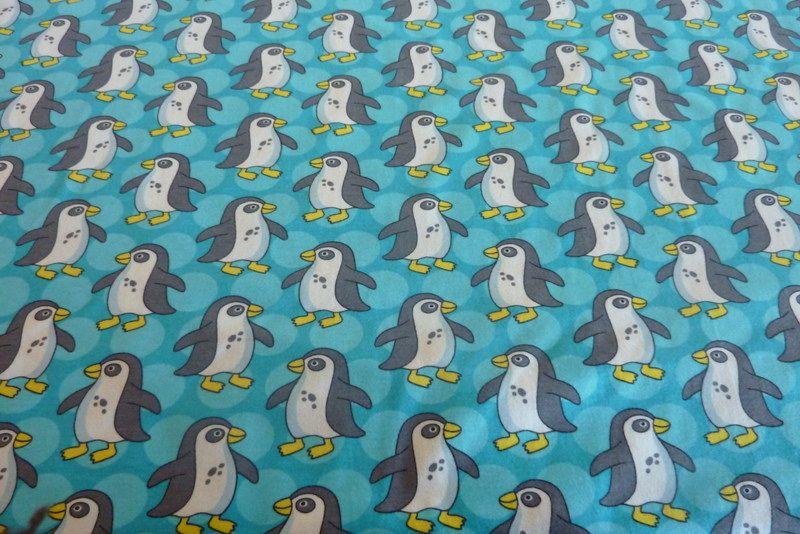 Bio-Jersey PinguParade, türkis von PinkPeppa auf DaWanda.com