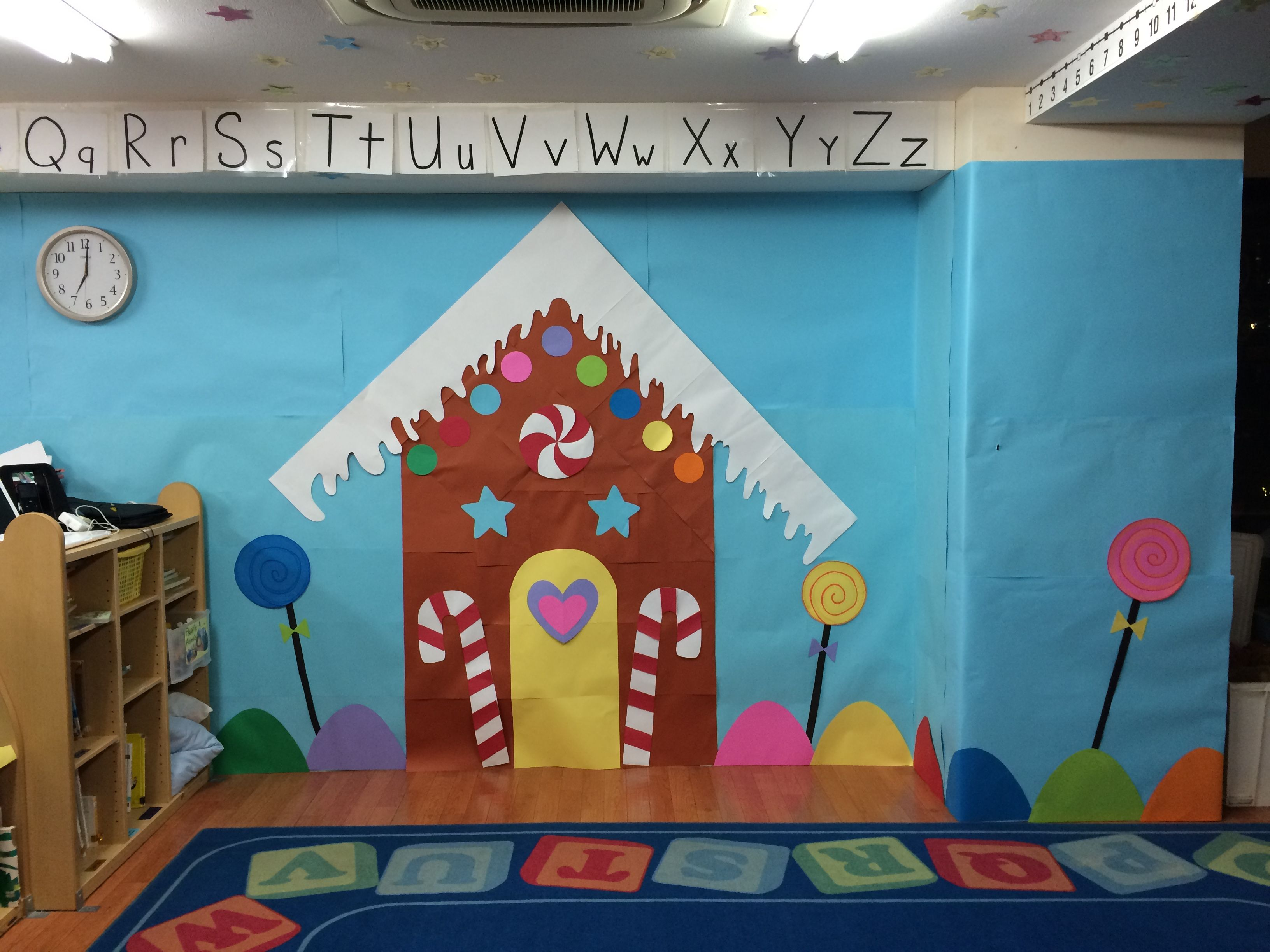 School Wall decorations to make our class room bright with the Christmas  spirit! The gingerbread