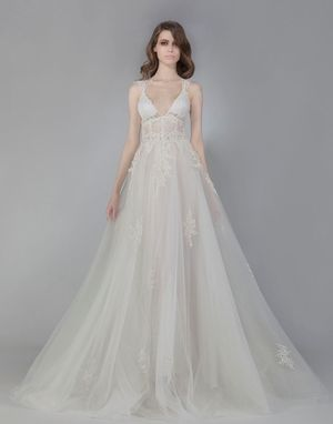 Sweetheart A-Line Wedding Dress  with Empire Waist in Tulle. Bridal Gown Style Number:33457367
