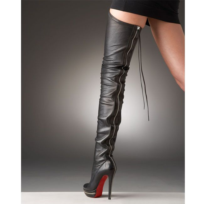 christian louboutin flat thigh high boots