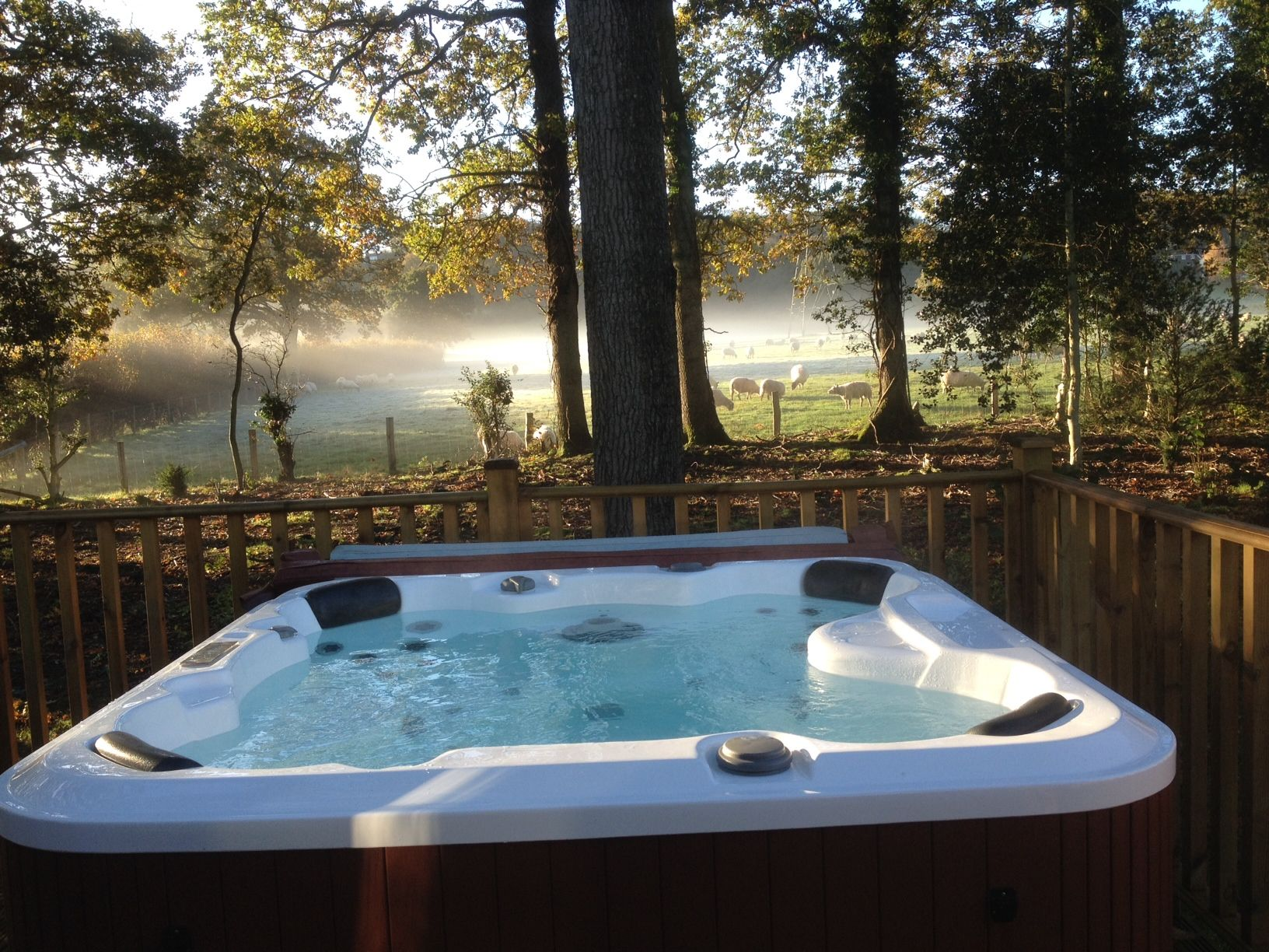 Hottub Verlichting The Stunning View This Morning From Plot 12a At Woodlands Park