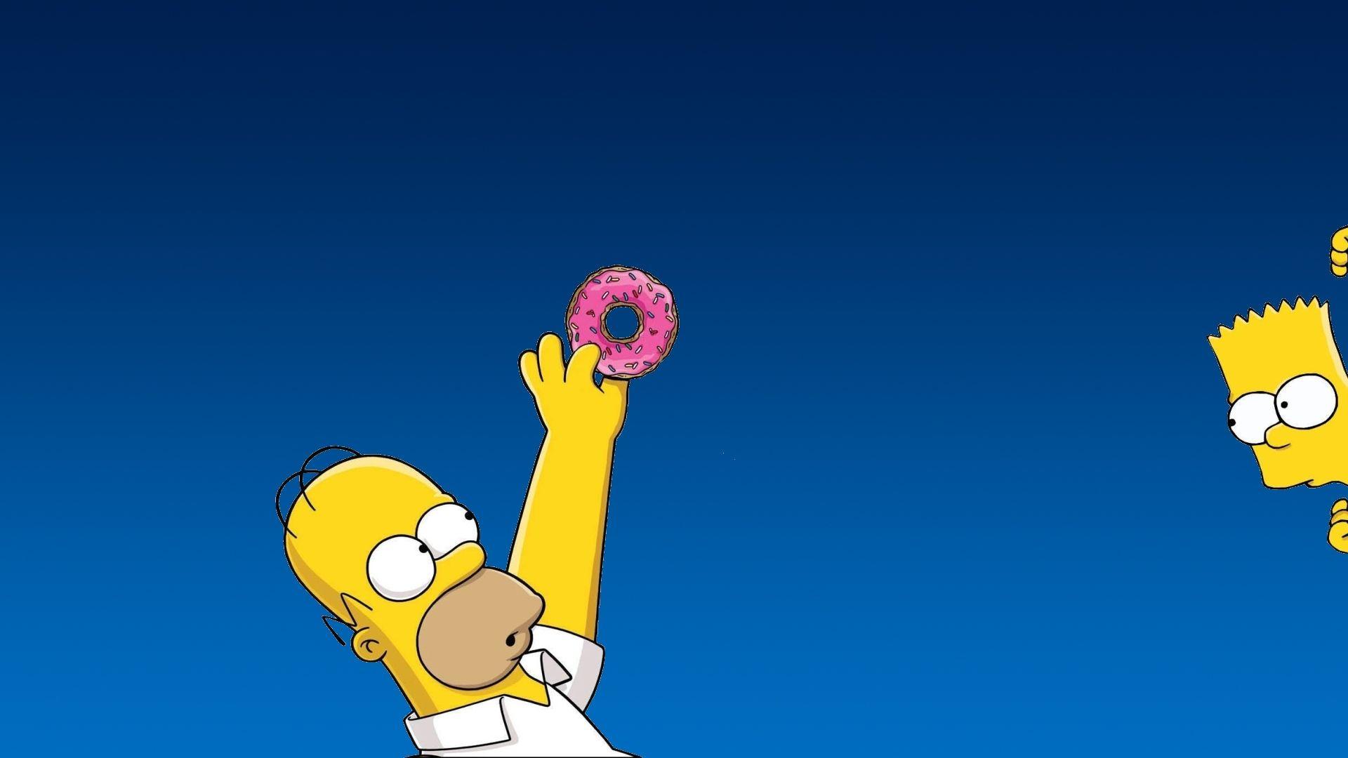 Homer and Bart Simpson Windows 10 Wallpaper ицо