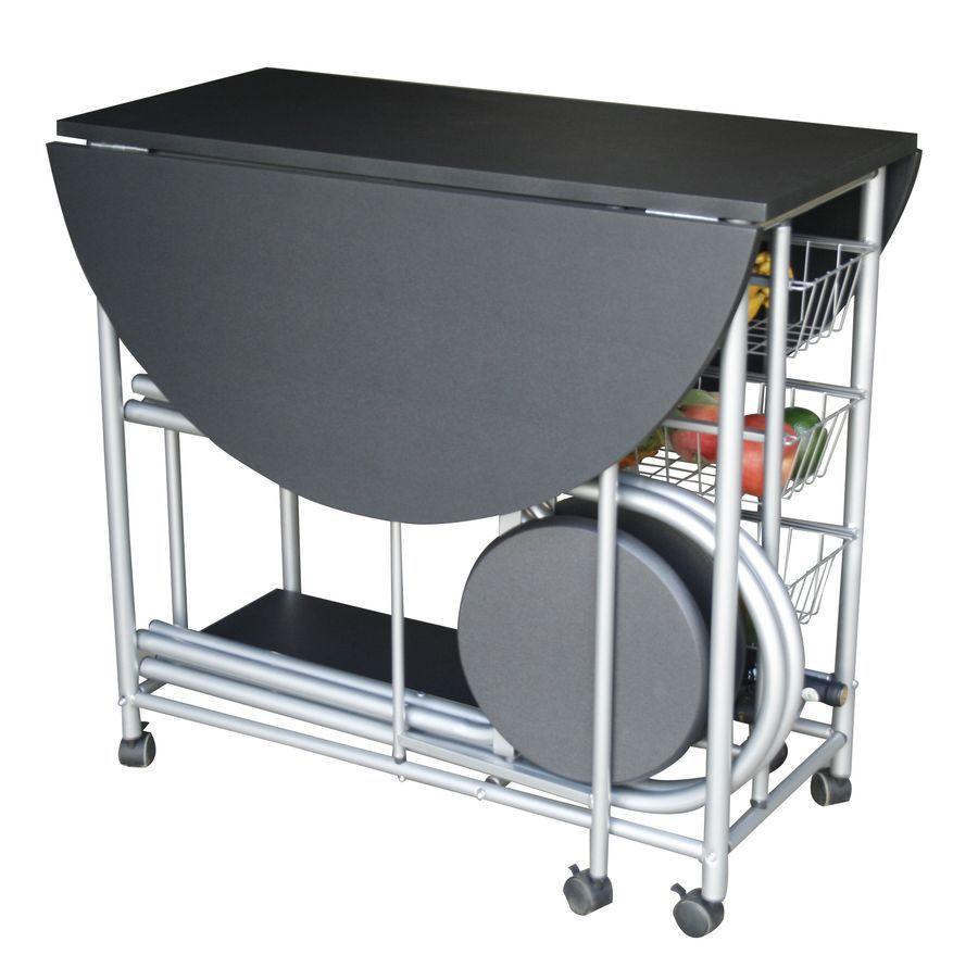 Conjunto Mesa Plegable Y Dos Taburetes Modelo Ceniza Ii 131 60  ~ Mesa De Cocina Plegable Tipo Libro