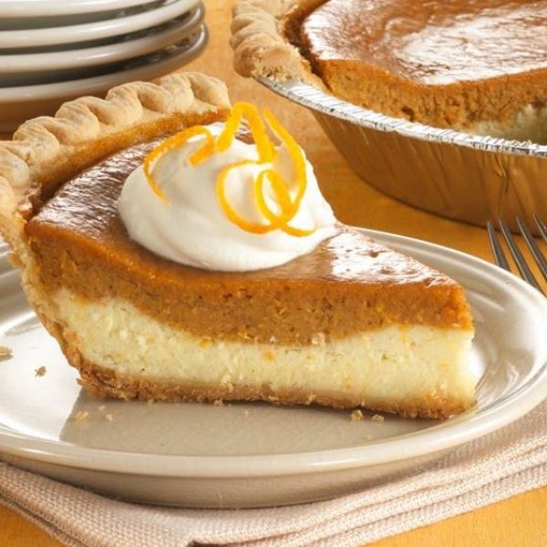 Cheesecake meets sweet potato pie in a creamy dessert that's made easily with a Pillsbury frozen pie crust.