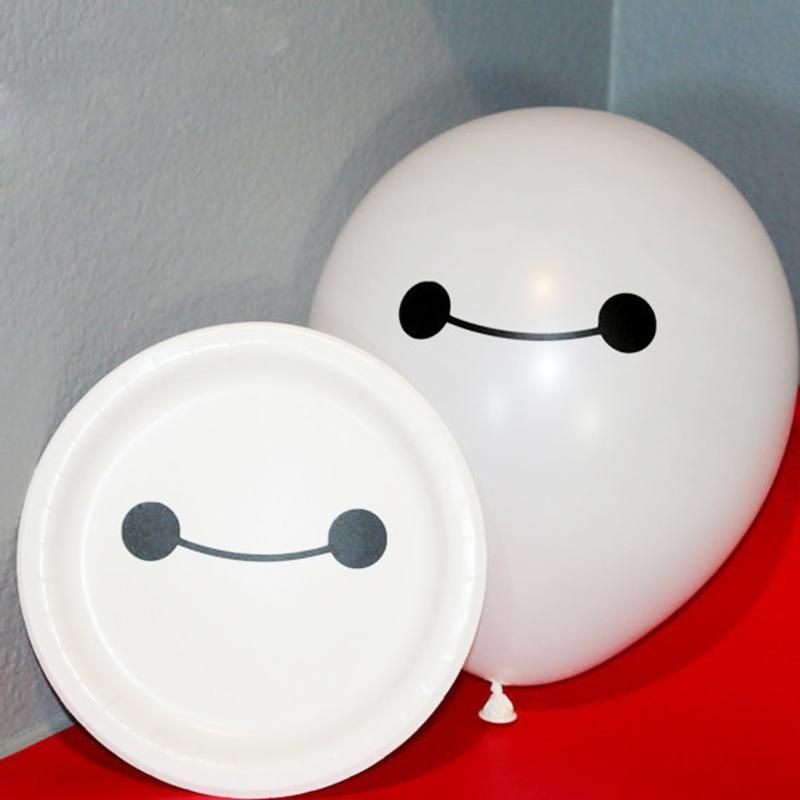 big hero 6 baymax inspired smiling eye vinyl stickers for birthday parties kawaii baymax decal
