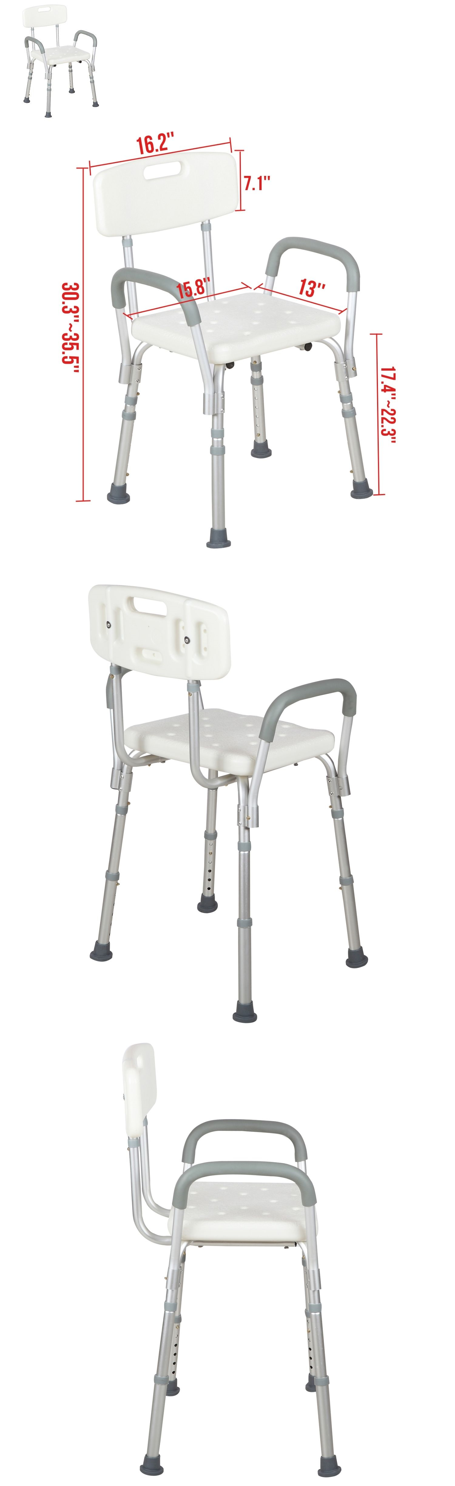 Shower and Bath Seats: Medical Shower Bath Chair Adjustable Bench ...
