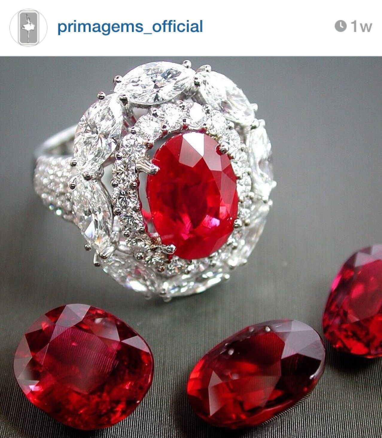 Natural Ruby and Diamond Ring by Prima Gems Siam Paragon / Emporium IG: primagems_official
