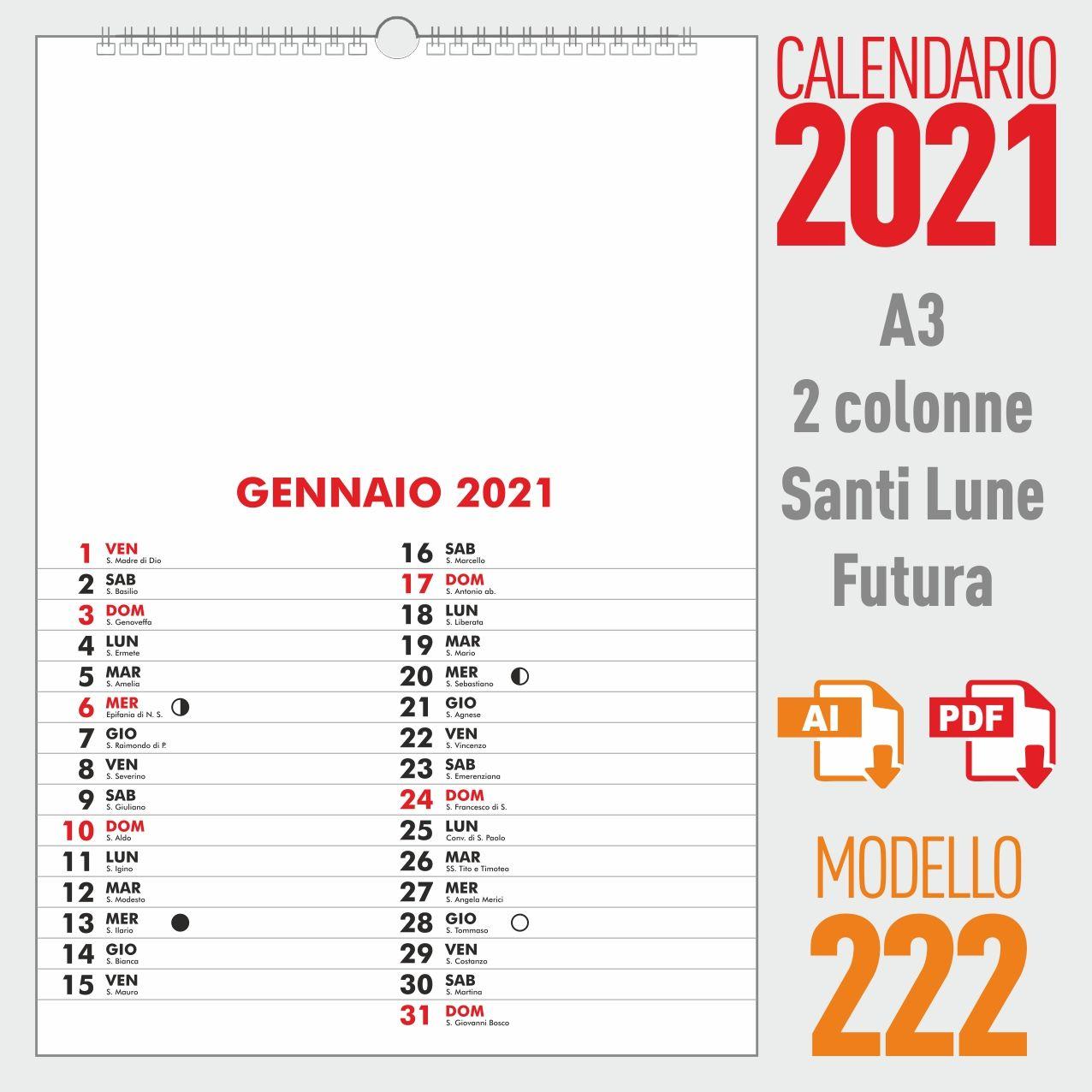 Calendario Mensile 2021 Vettoriale Gratis Calendario 2021 mensile | Calendario