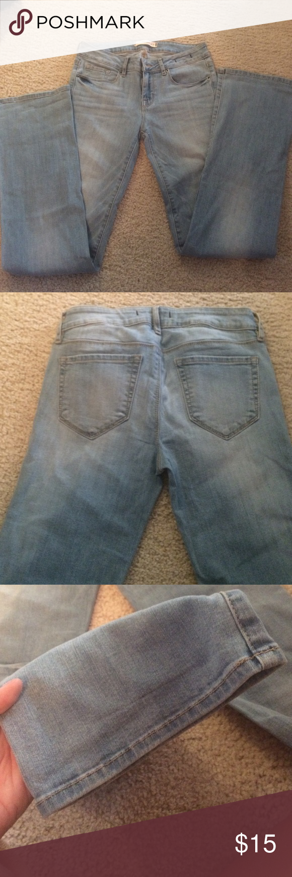 Bullhead Jeans Light blue bullhead jeans. Never worn. Same as the other listing just a different color. Bundle & save! Both are a 7R, regular length. Bullhead Jeans Boot Cut