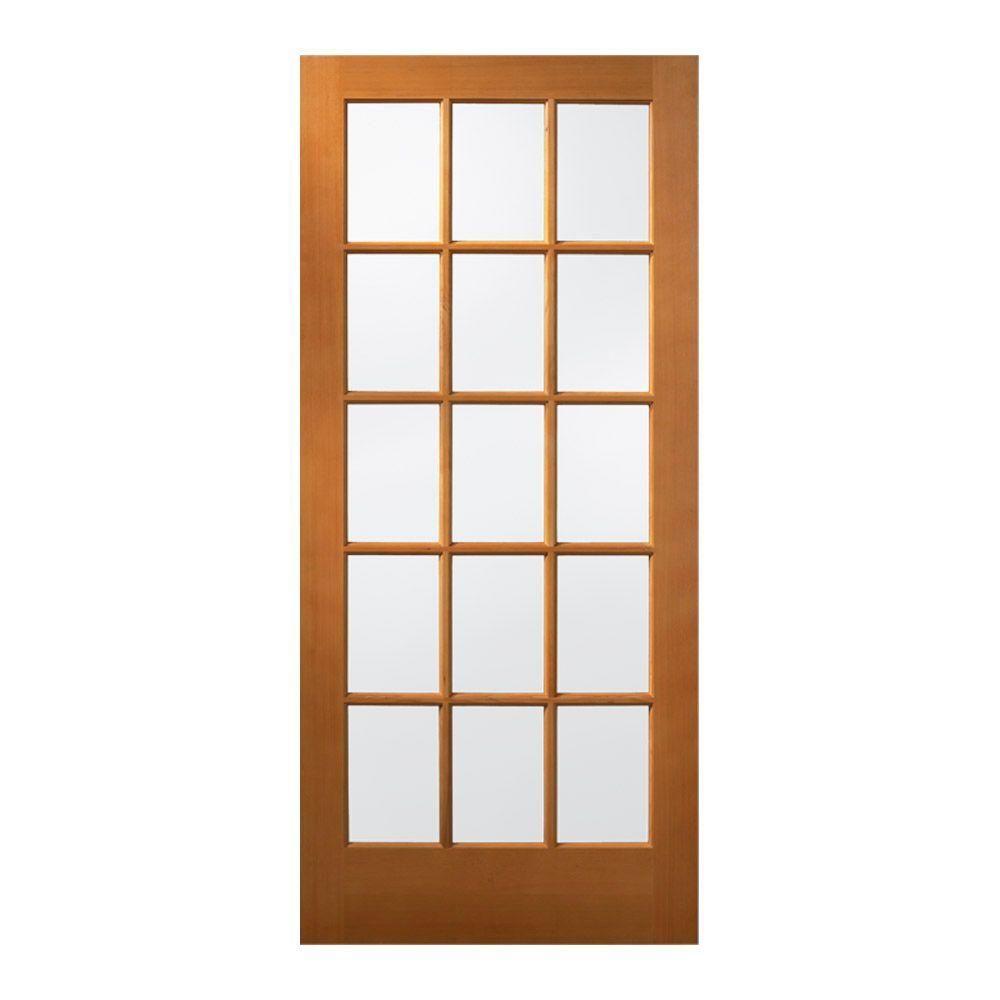 Jeld Wen 15 Lite Unfinished Wood Slab Entry Door 5330 0 The Home Depot Wood Exterior Door Jeld Wen Exterior Doors Wood Front Doors