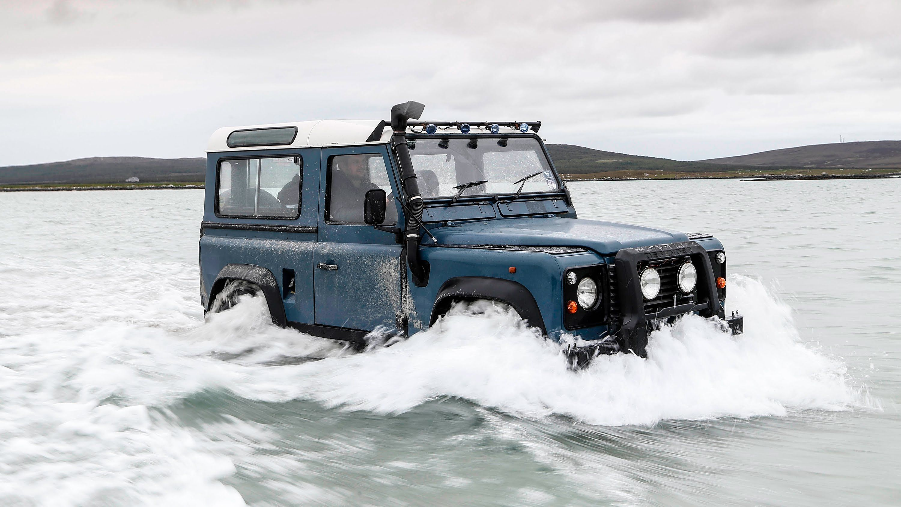 Land Rover Defender Vs The Atlantic Ocean And The Car Wins Just