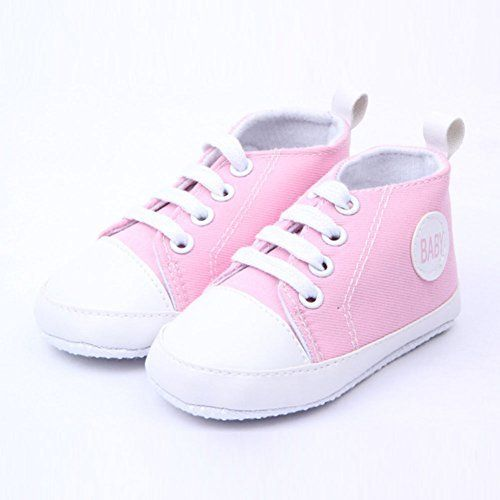 Newborn Baby Boys Girls Soft Soled Crib Shoes Canvas Sneakers Trainers Prewalker nUF2B