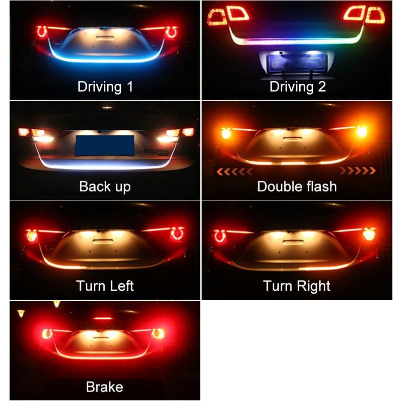 Okeen Car Styling Turn Signal Amber Flow Led Trunk Strip Tail