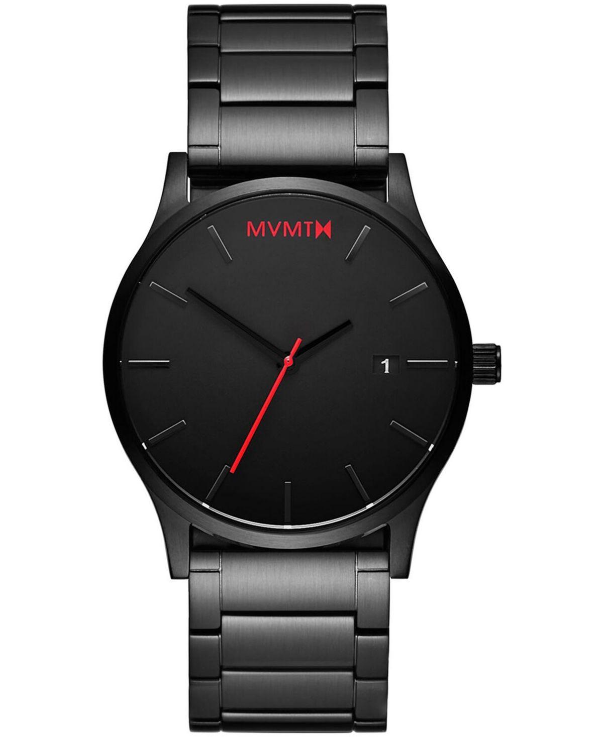 Mvmt Men S Classic Black Stainless Steel Bracelet Watch 45mm Black Black Stainless Steel Bracelet Vintage Watches For Men Watches For Men