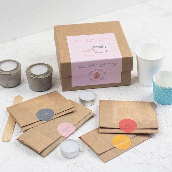 Concrete Craft Kit Craft Kit For Adults Diy T Light Holder Kit