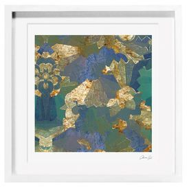 Turquoise Deco Framed Print Oliver Gal Framed Canvas Prints Painting Painting Frames