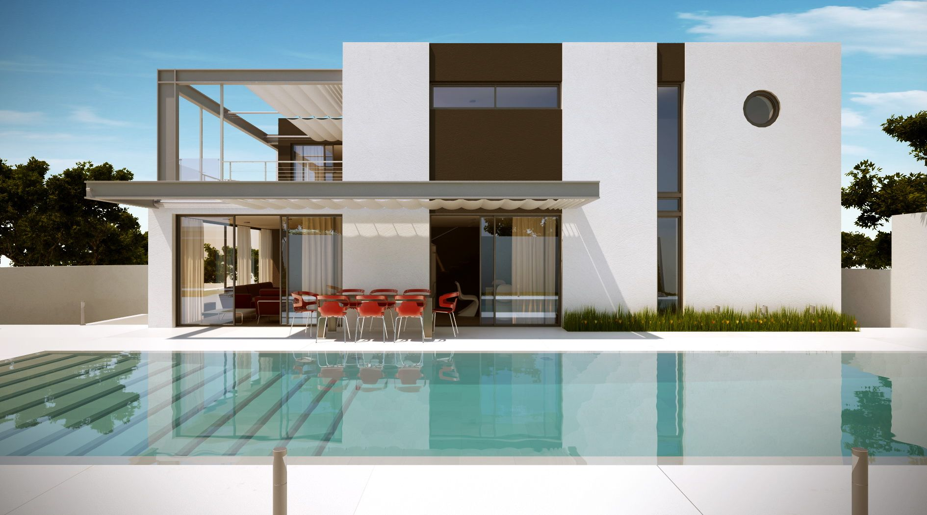 House bauhaus line architects arquitectura pinterest - Piscinas desmontables bauhaus ...