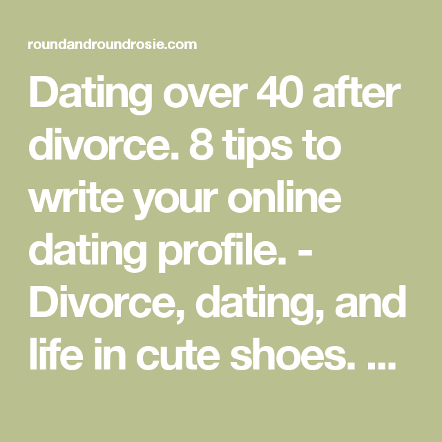 Writing a dating profile men over 50