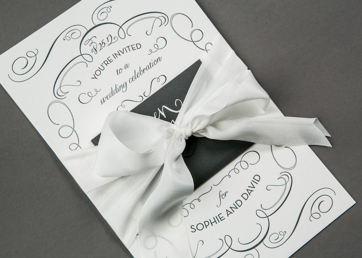 All tied up in a bow - Custom designed mini envelope wedding ...