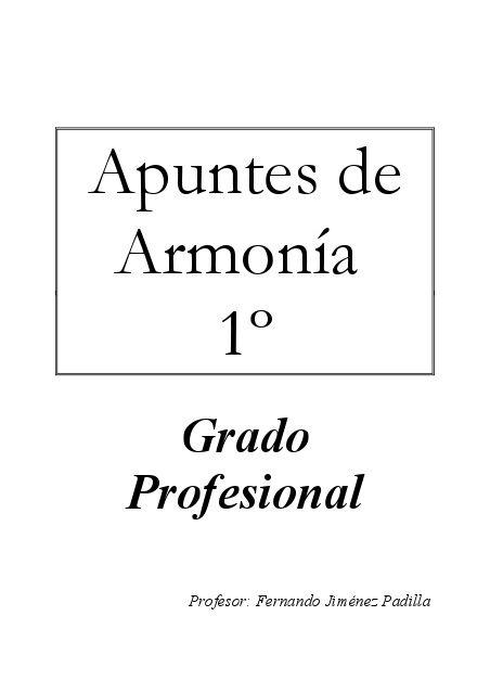PDF – Apuntes de Armonía 1º | Music learning | Pinterest | Pianos ...