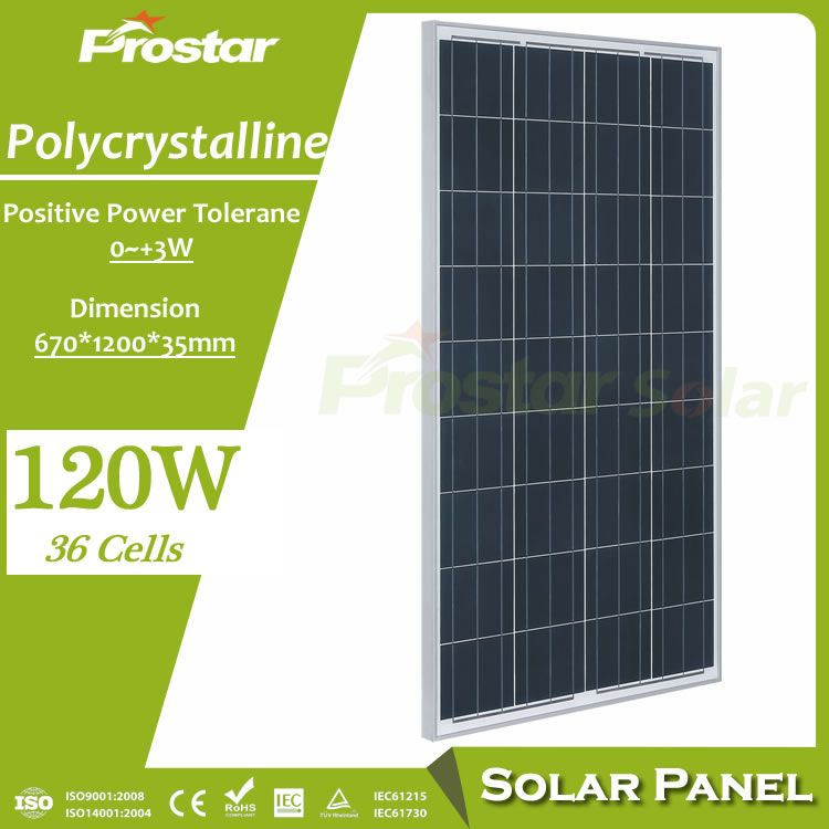 Prostar High Quality Poly Crystalline 120w Solar Panel Price India Solar Panels Solar Energy Panels Best Solar Panels