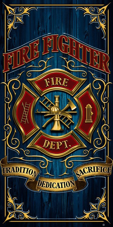 Beautiful Firefighter Towel! FREE Shipping! Show Off