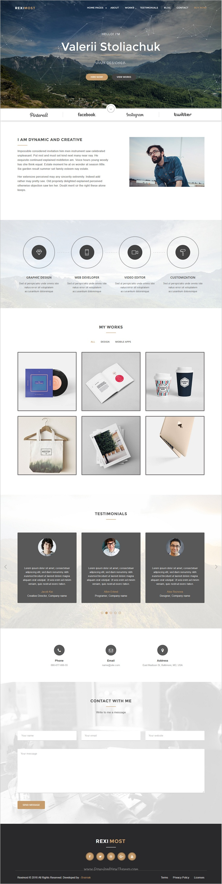 Reximost is a modern & minimal design #bootstrap template for ...