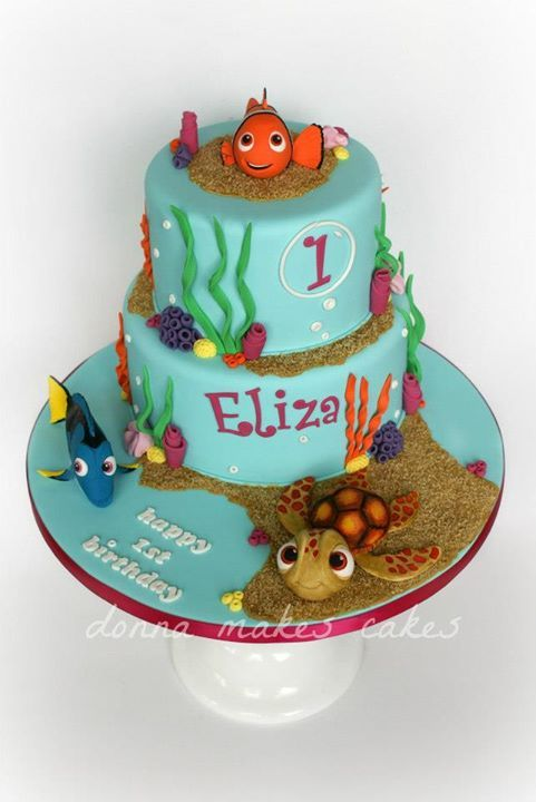 Awesome Finding Nemo 1st Birthday Cake Finding nemo cake