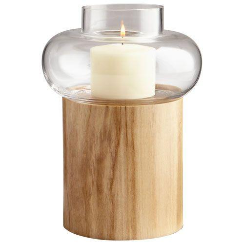 Kalliope Oak Medium Candleholder