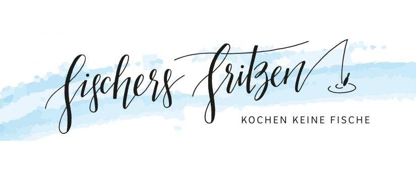 Fischers Fritz fischt frische Fische, … | Fingertips Calligraphy, Logodesign for a food blog