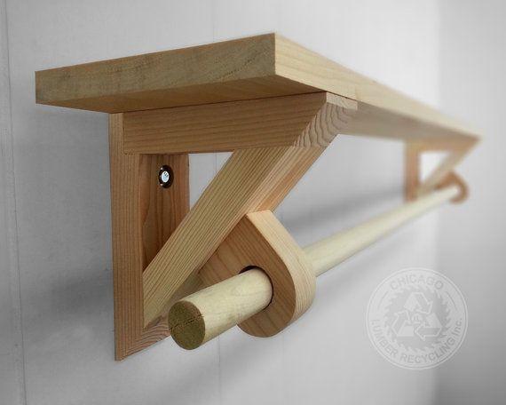 Pair of towel rack shelf holder bracket on Etsy, $51.95 AUD | build ...