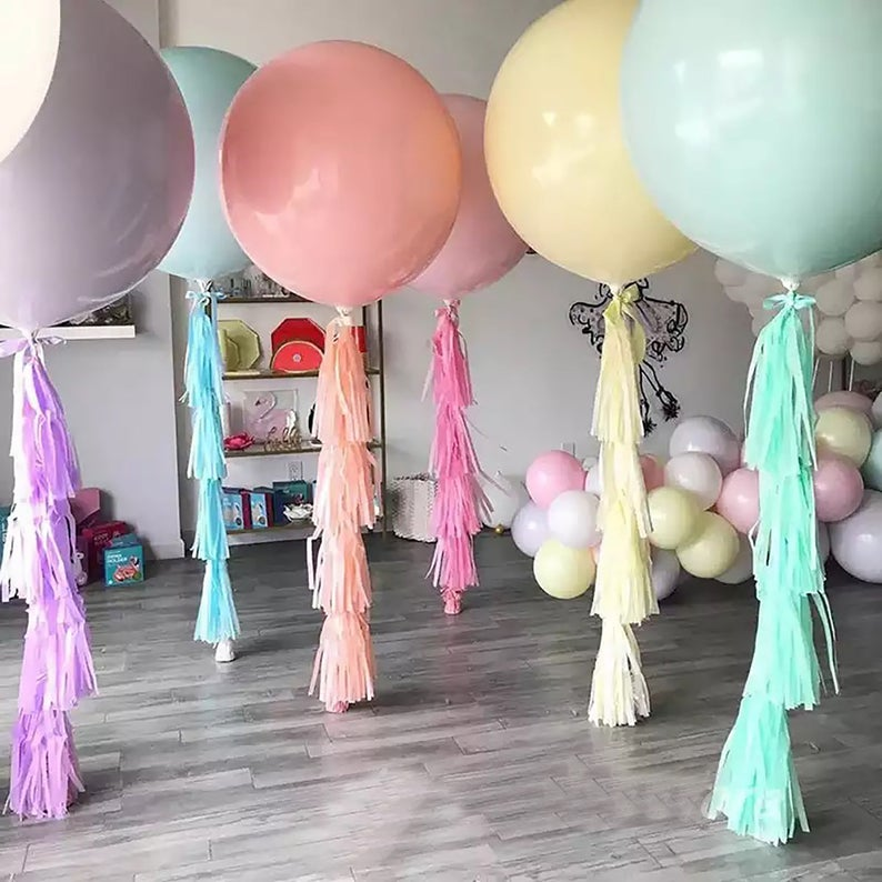 "5/""18/""36/""10/"" Macaron Candy Colored Latex Balloons Birthday Wedding Party Decor"