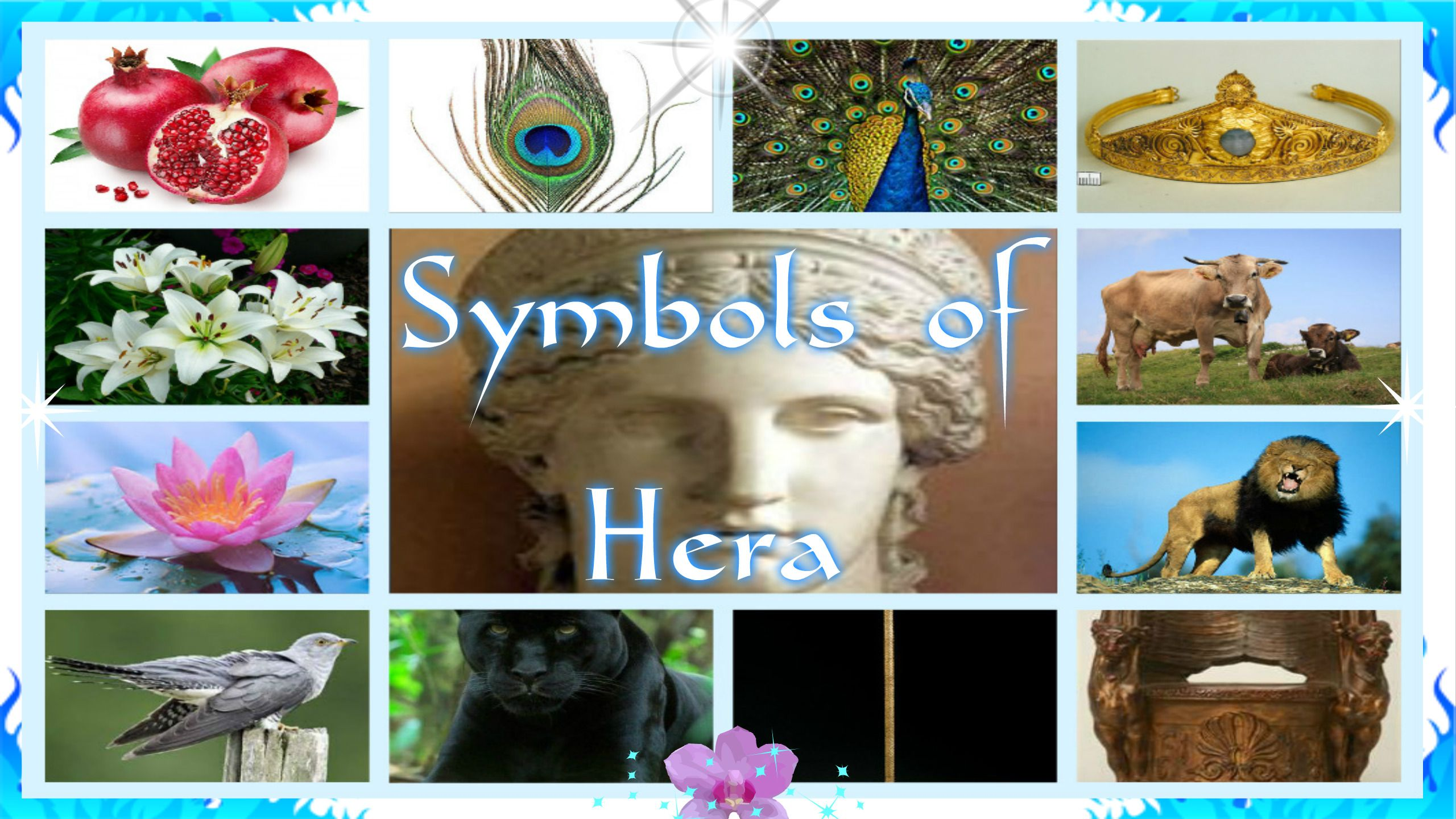 Symbols Or Hera Pomegranate Peacock Peacock Feather