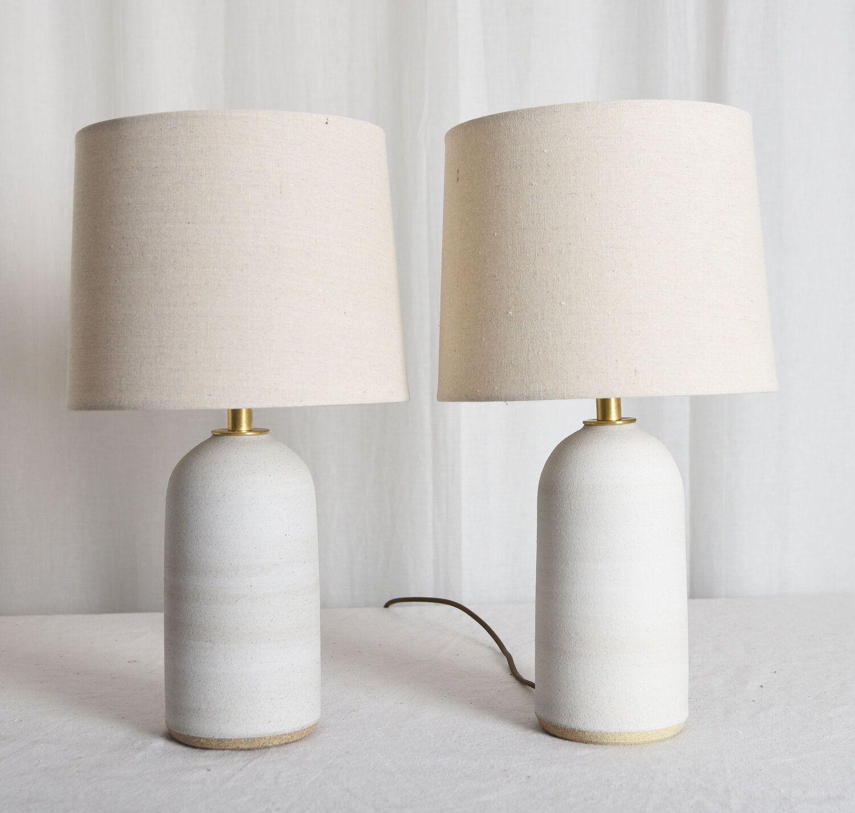 Small Matte White Dome Top Lamps Mmhp Ceramics White Lamps Bedroom White Table Lamps Bedroom Lamp