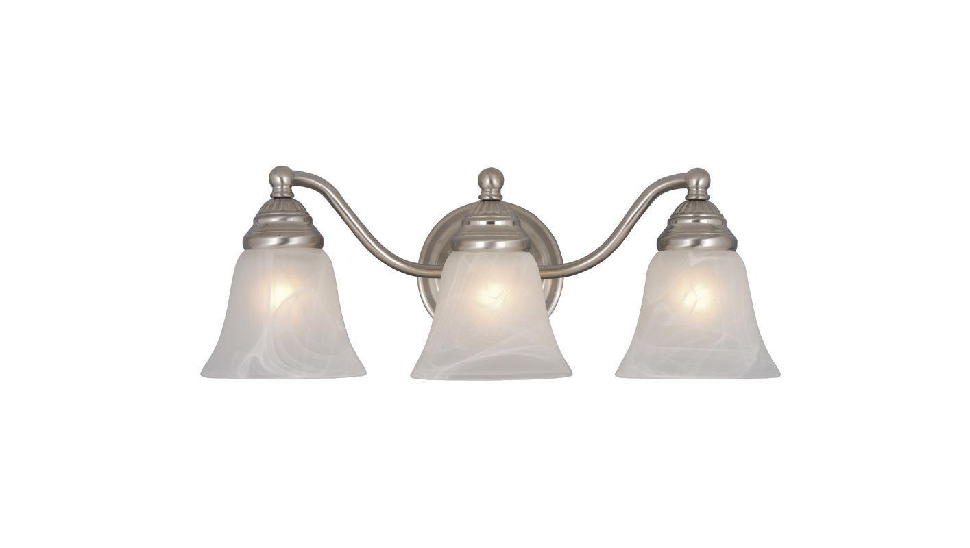 Photo of Vaxcel Lighting VL35123BN Brushed Nickel Standford 3 Light Bathroom Vanity Light – 19 inch …