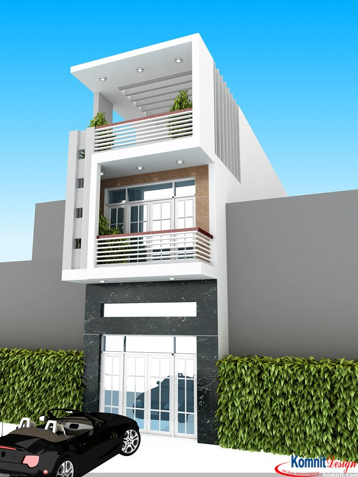 Front Elevation Balcony Designs: FL-K002 Exterior Flat Projects