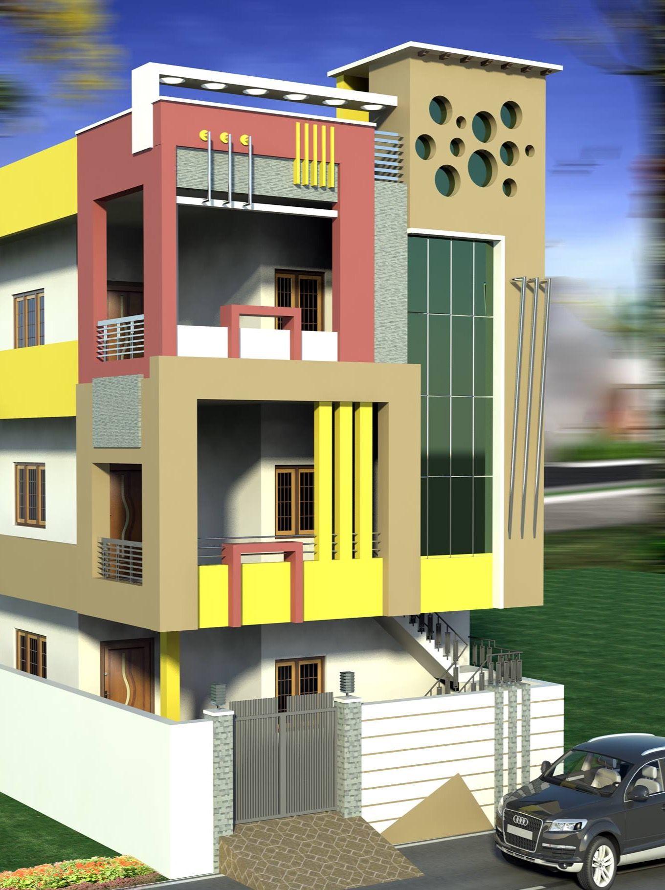 House Front Design, Duplex House Design, Bungalow House Design