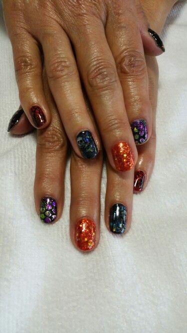Halloween shellac manicure | Shellac manicure, Get nails ...