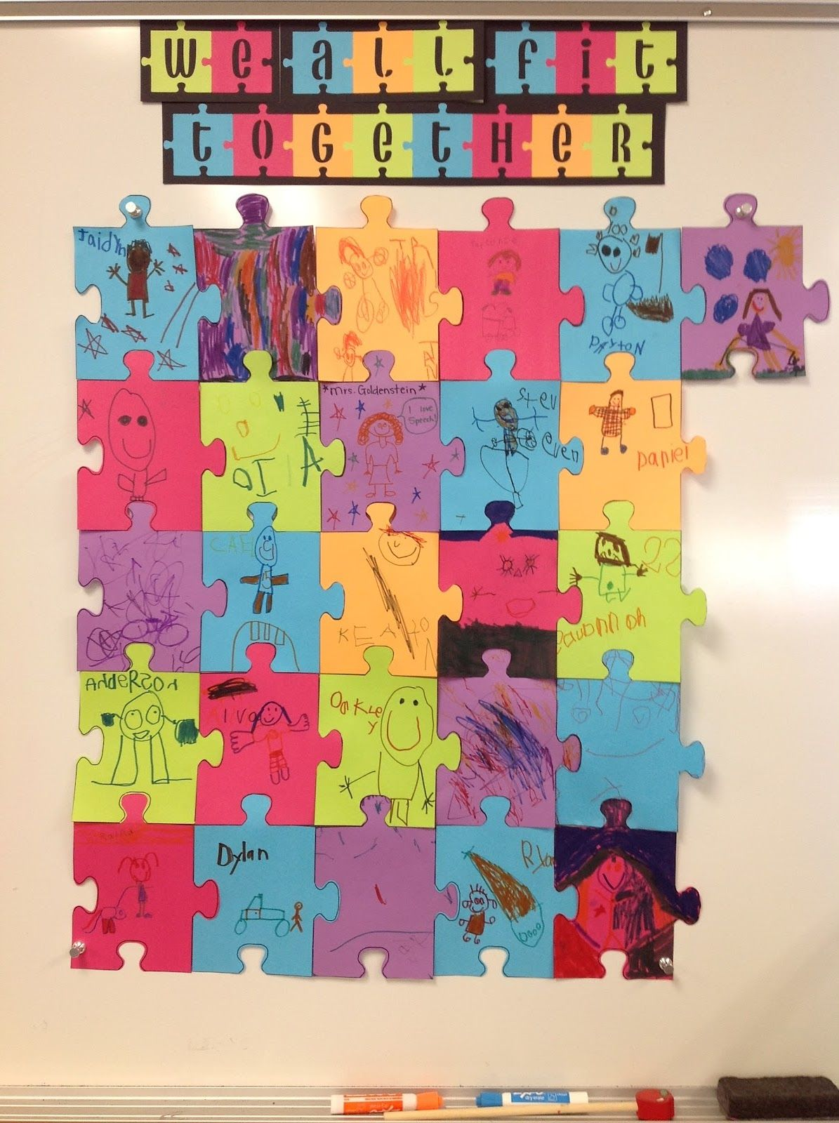 Giant Puzzle For Getting To Know Your Speech Therapy Students