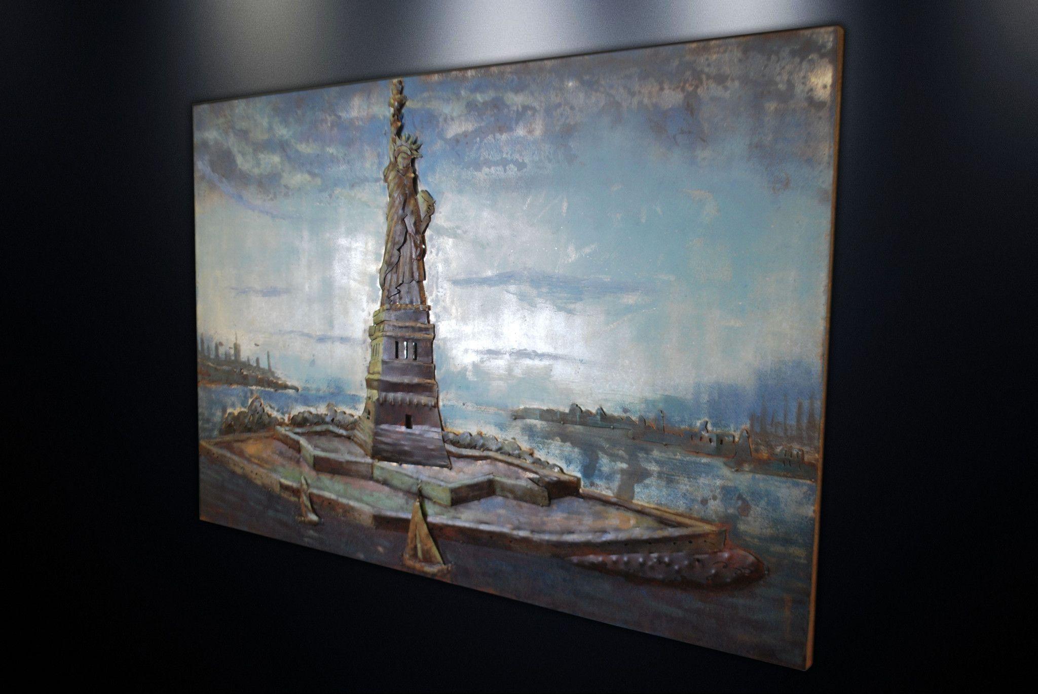 Modern Metal Art Wall Sculpture Home Decor Statue Of Liberty