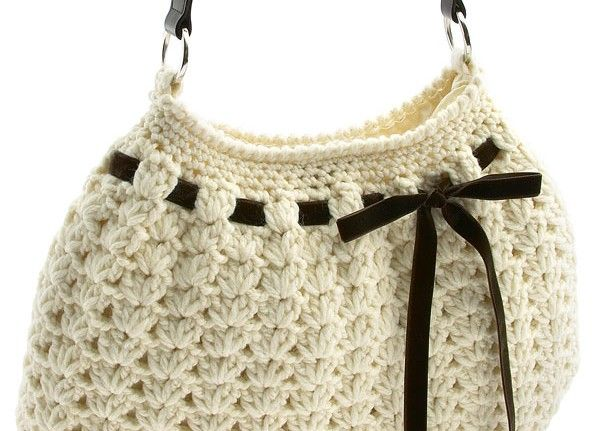Crochet Bag With Pattern Bags Pinterest Crocheted Bags