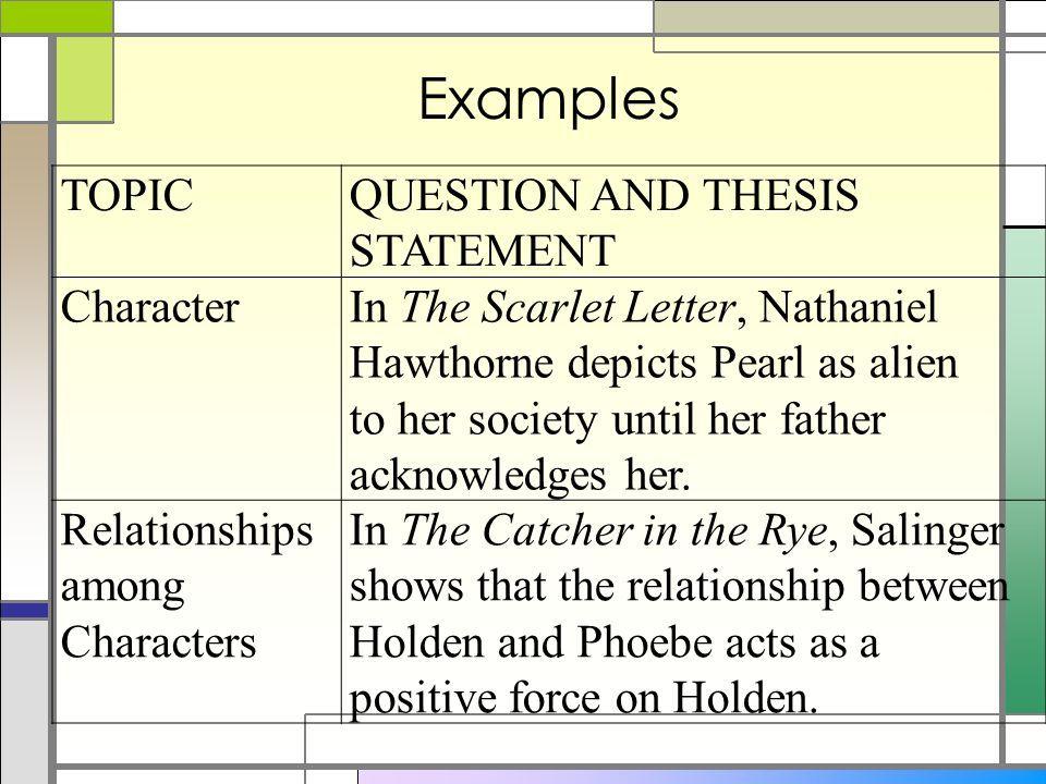 nathaniel hawthorne thesis statement