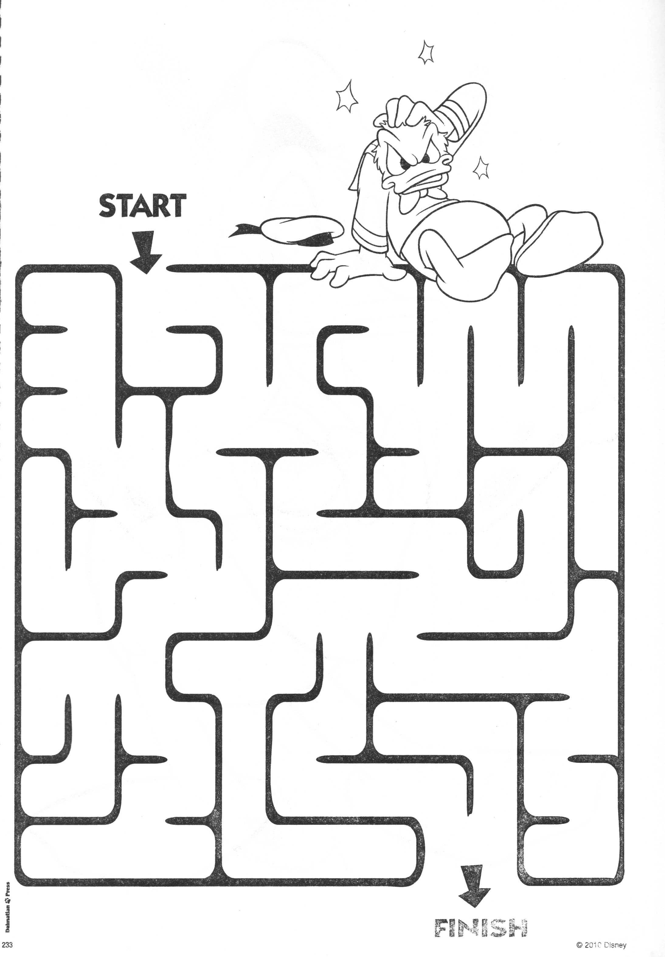 Donald Duck Maze